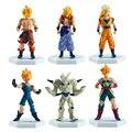 6 unids Dragon Ball Z Figura de Acción 15 cm Hijo Super Saiyan Modelo Figura Japonesa Del Anime Dragonball Z Goku Gohan Goten PVC Juguete