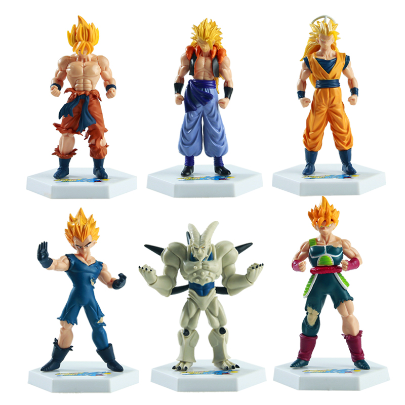 6pcs Dragon Ball <font><b>Z</b></font> <font><b>Action</b></font> <font><b>Figure</b></font> 15 cm Super Saiyan Son Goku Gohan Goten PVC Model Japanese Anime <font><b>Figure</b></font> <font><b>Dragonball</b></font> <font><b>Z</b></font> Toy