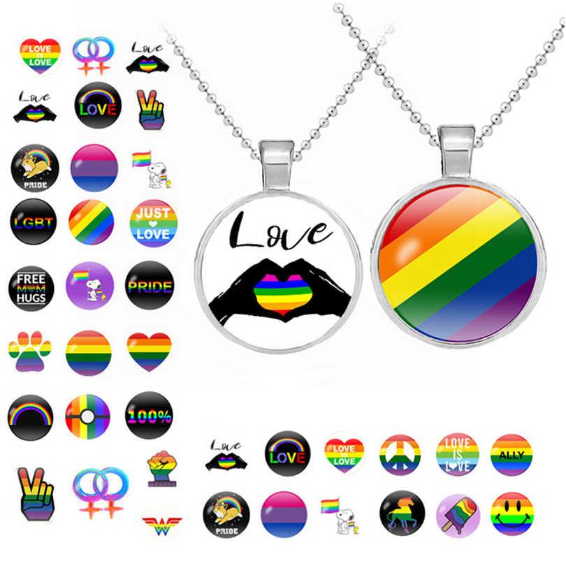 Collar de cúpula de cristal con banderas de arcoíris, Bandera de Orgullo LGBT para lesbianas, Llavero de Metal chapado en plata, vengadores 3 Thanos