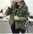 Корейских Женщин Куртка Пальто Женщины Мех Вытяжки Зимняя Куртка Женщина ватные Куртки женские Пуховик Женщин Куртка Пальто дамы Вниз R5