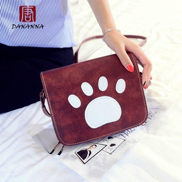 New Year Gift Fashion Women Mini Bag Dog Paw Print Messenger Bags Trendy Handbags Spain Summer