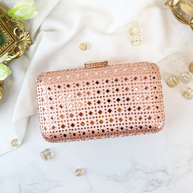 female bag 2017 new version of the green tide drilling handbag Lingge dress Handbag Clutch crown rose gold day clutches the other side of the road new extended version cd
