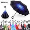 Guarda Chuva Invertido Inverted Reverse Women Car Stand Windproof Folding Rain Upside Down Umbrella Woman C