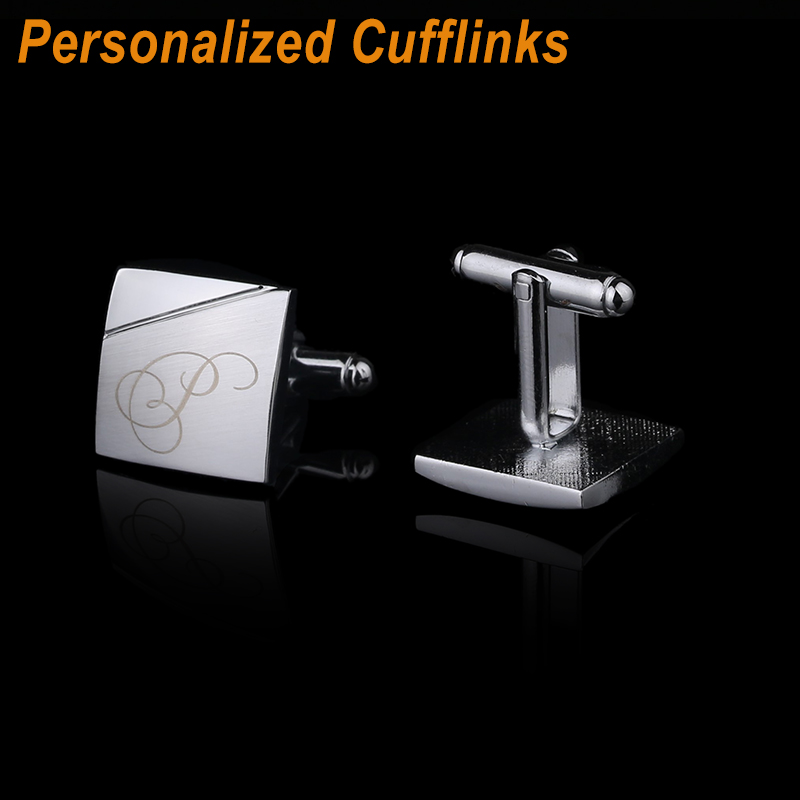 все цены на Personalized Cufflinks Custom Name Cuff Links for Mens Gifts Dad Customized Cuff Buttons Wedding Favors For Fathers Day CL-013 онлайн