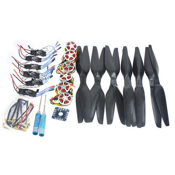 DIY Drone 6-Axis Foldable Rack RC Helicopter Kit KK Control Board+750KV Brushless Disk Motor+15x5.5 Propeller+30A ESC F05422-B 4set lot universal rc quadcopter part kit 1045 propeller 1pair hp 30a brushless esc a2212 1000kv outrunner brushless motor