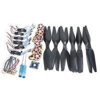 DIY Drone 6 оси Складная стойка Вертолет Комплект KK Управление доска + 750KV безщеточный диска двигателя + 15 х 5,5 пропеллер + 30A ESC F05422 B