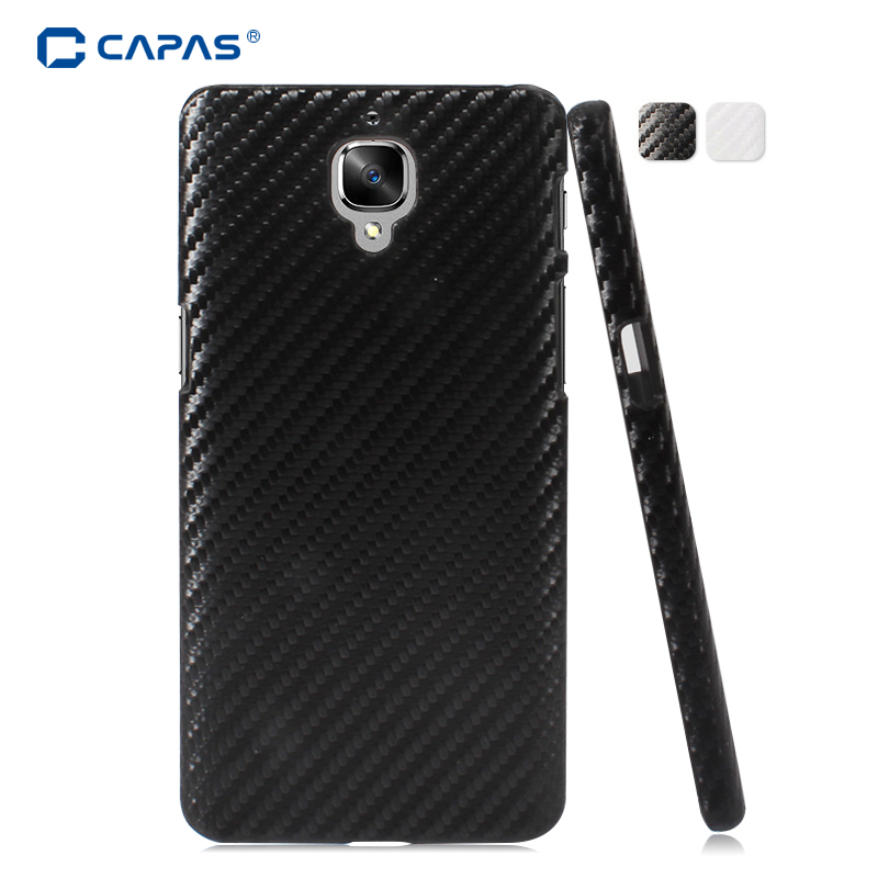 b5d86e429 Cover for Oneplus 3 3T One Plus Three A3003 Case Original CAPAS 3D Carbon  Fiber Pattern Protective Shell Black Fundas Shockproof