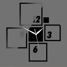 new arrival 2016 time-limited direct selling Acrylic wall clock 3D mirror glass office Modern home decorpromotion free shipping
