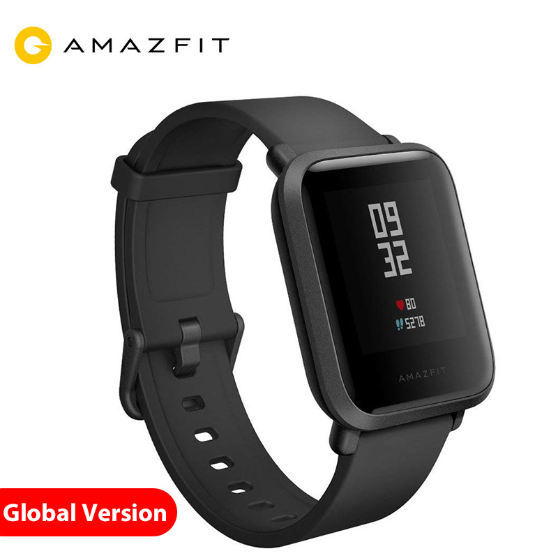 Xiaomi Amazfit Bip Smart Satch Globle version Huami Pace Lite IP68 GPS Gloness Smartwatch fréquence cardiaque 45 jours stand bay