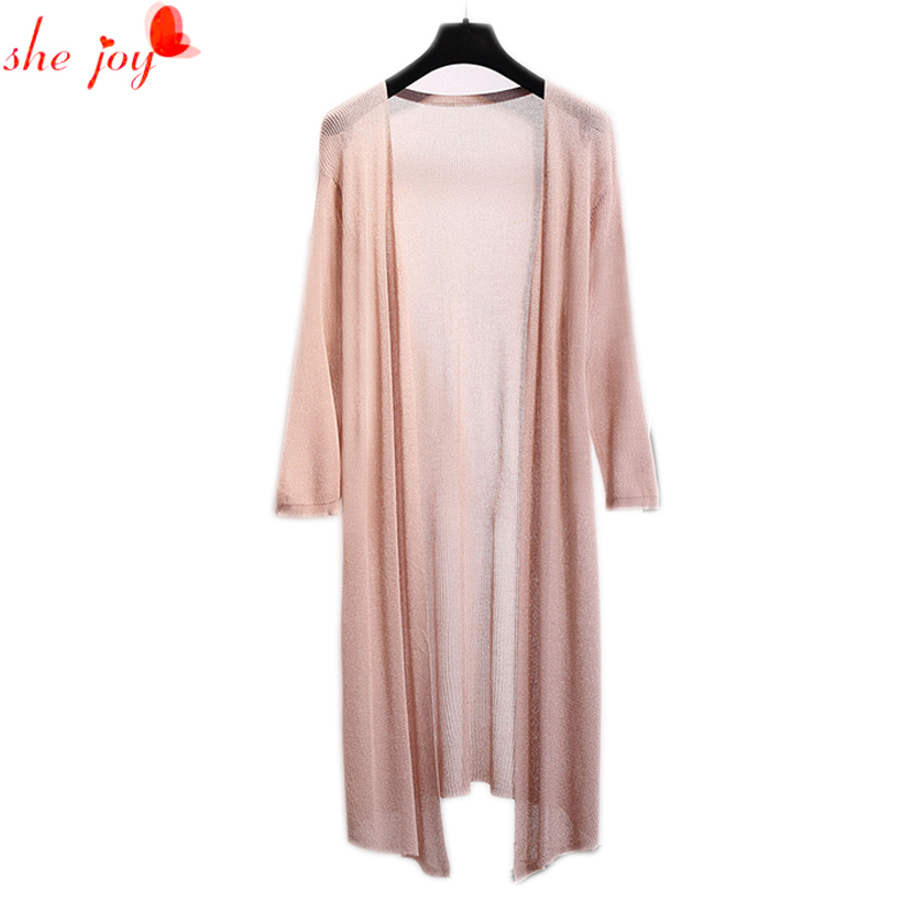 2017 Brief Style Womens Cardigans Long Sleeve Long Design Think Sweater Knit Women Poncho Blusas de inverno feminina Cardigan