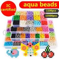 30 Colors 13500pcs Aquabeads Spray Magic Beads Kit Ball Aqua beads Puzzle Game Fun DIY 3D puzzle Educational Toys For Children