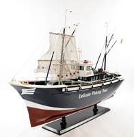 1 2 Meters Wooden Sailing Boat Model Fishing Boat Model Window Display Adornment Wooden Crafts Business