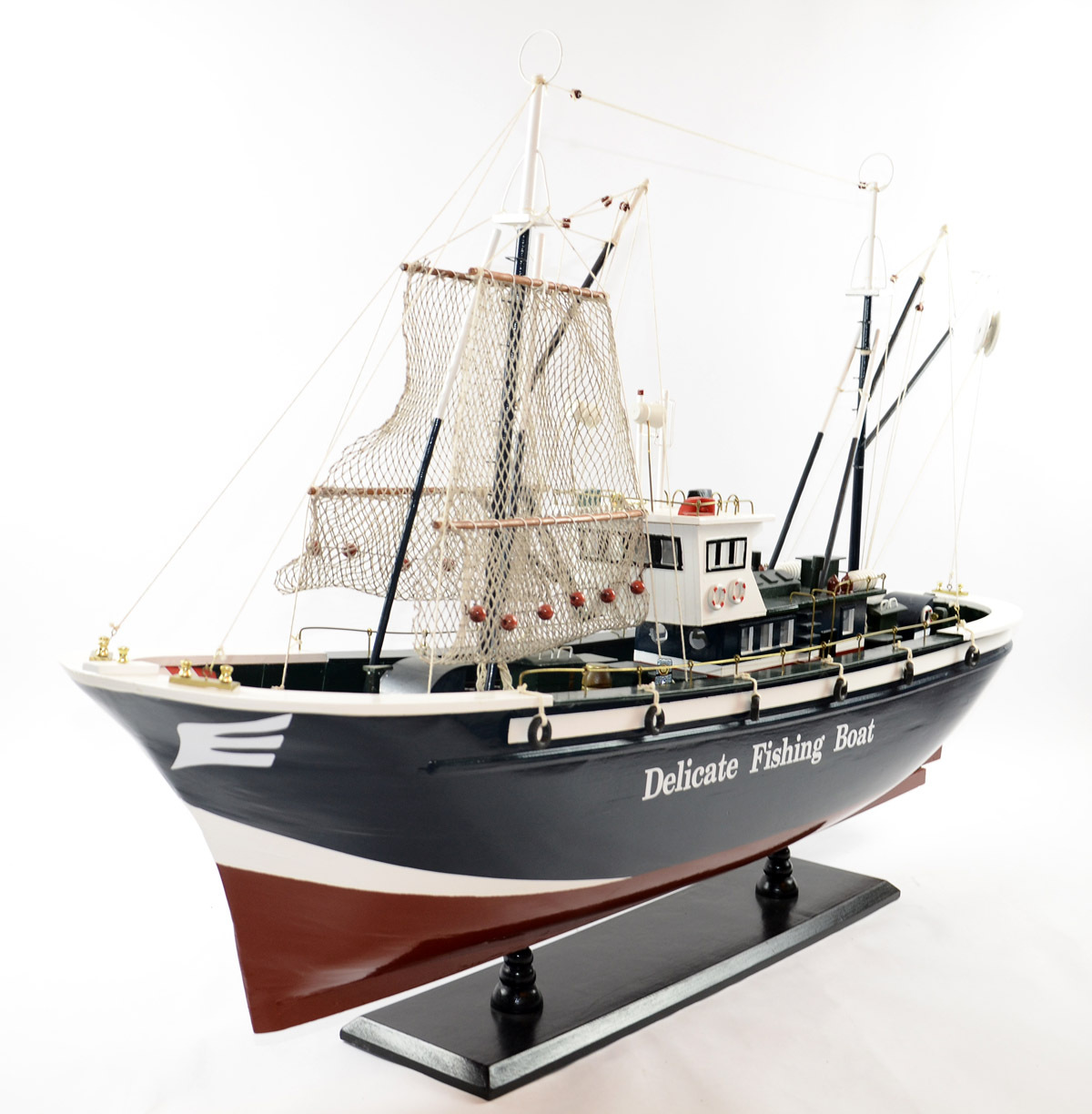 1.2 meters wooden sailing boat model Fishing boat model Window display adornment Wooden crafts Business gifts