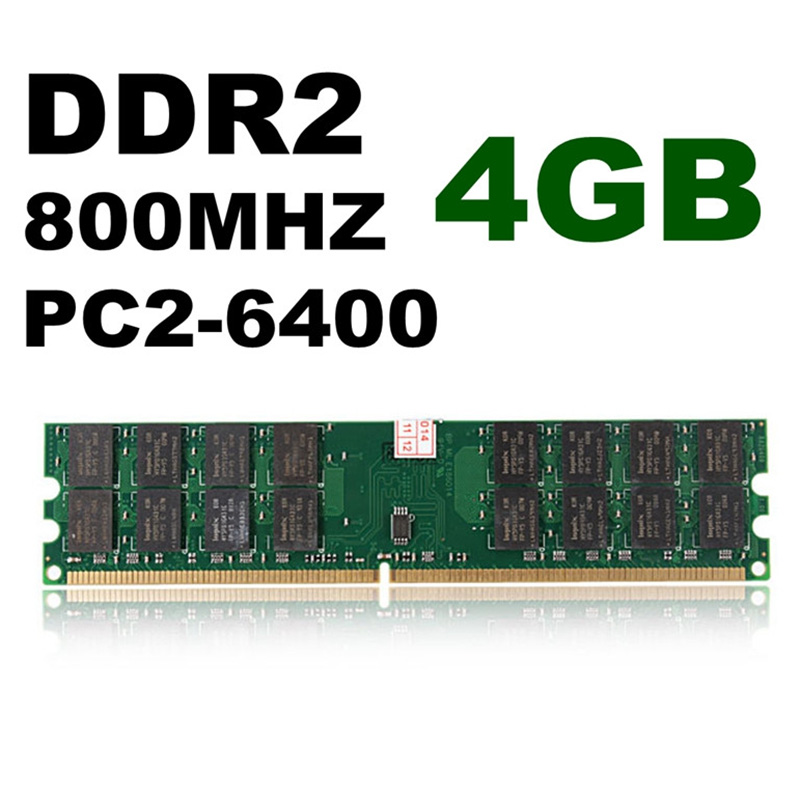 2 Pcs 4GB DDR2 800MHZ PC2 6400 240 Pins Desktop Memory RAM For AMD Motherboard QJY99