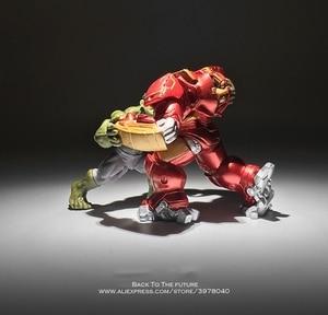 Image 2 - Disney Marvel Avengers Hulk Hulkbuster 7 8cm 2pcs/set Figure Super Heroes Flashing PVC Action Figures Toys model for children