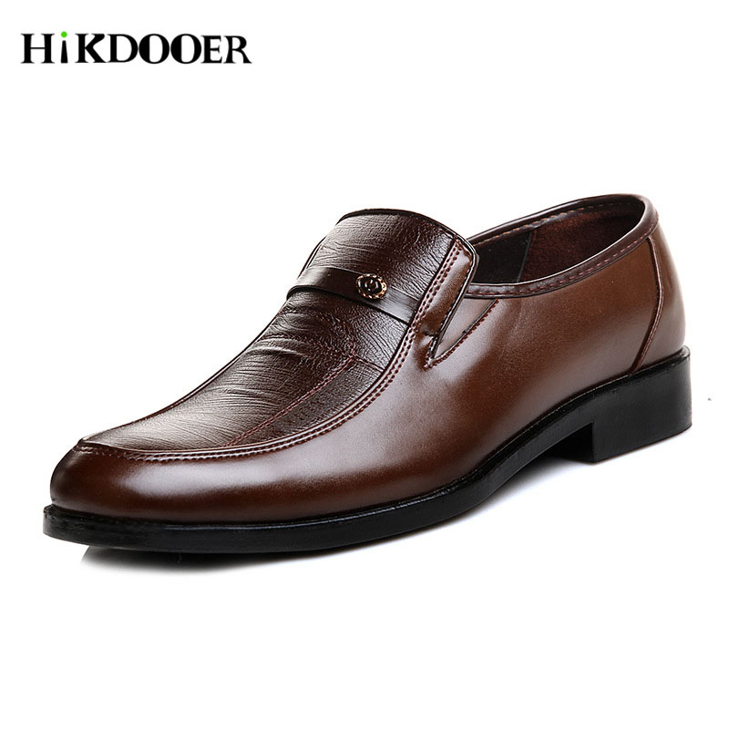 New Arrival Men Leather Slip On Shoes Round Toe Summer Footwear Male Office Work Shoes Sapato Social Masculino