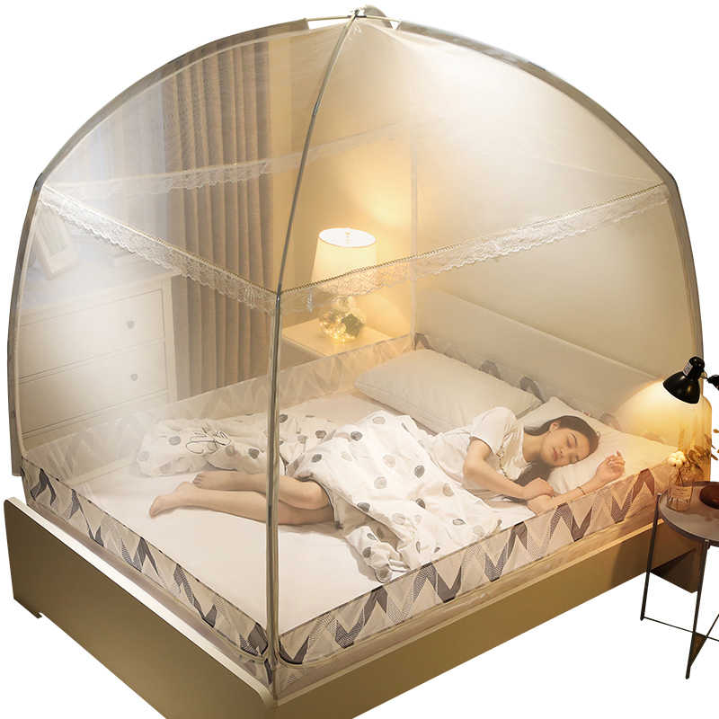 Multi Size Household Folding Mosquito Net For Single Double Bed Luxury Mongolian Yurt Mosquito Net Tent For Adults Mesh Canopy