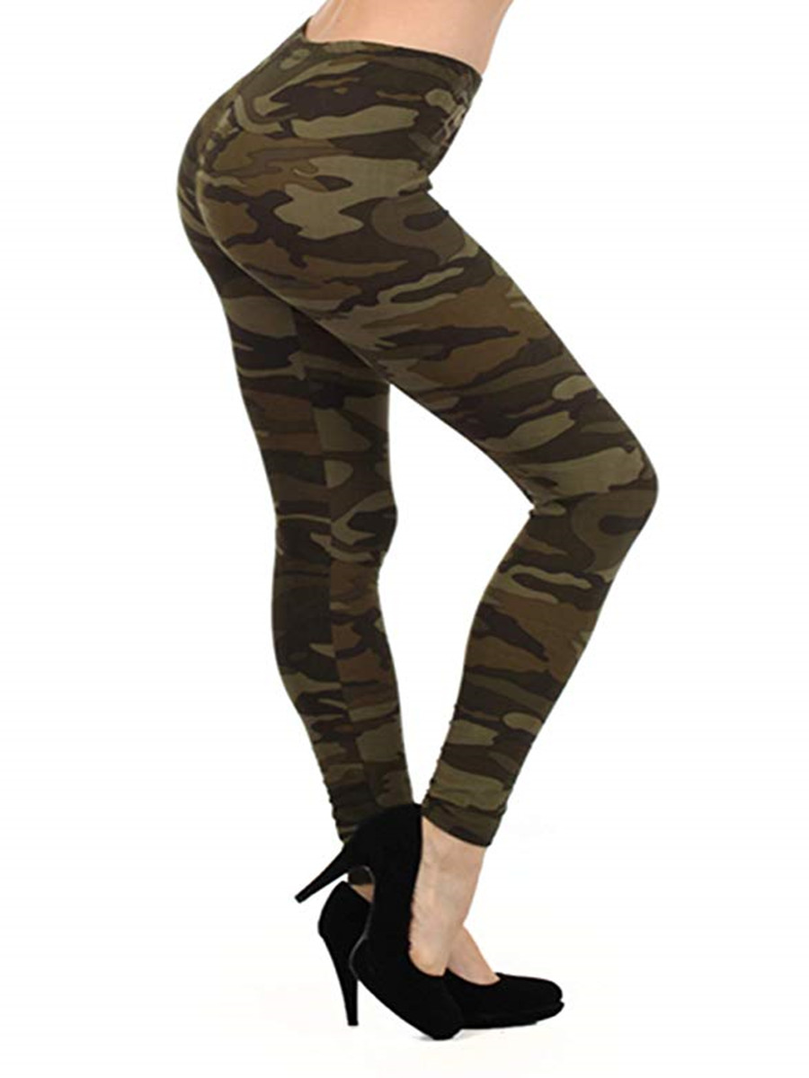 Sexy Camo Pants Camouflage Printed Leggings Women Autumn Jeggins Ladies Fitness Cotton Legging Green Leeging Jegging Fall 2019