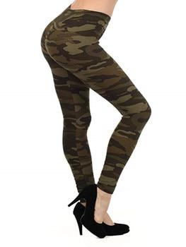 Sexy Camo Pants Camouflage Printed Leggings Women Autumn Jeggins Ladies Fitness Cotton Legging Green Leeging Jegging Fall 2019
