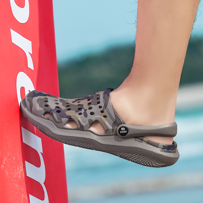 POLALI 2020, Новое поступление, мужские сабо, летняя обувь, мужские тапочки, дышащие Нескользящие мюли, Мужская садовая обувь, повседневные пляжные сандалии|Тапочки|   | АлиЭкспресс