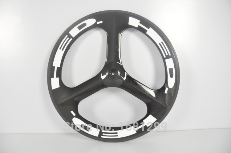 New 700C Road Track Fixed Gear bike 3K UD 12K full carbon bicycle wheelset 3 spokes and clincher rim integrated +hubs Free ship 1pcs new 700c 88mm clincher rim track fixed gear road bicycle 12k full carbon fibre bike wheels rim 20 5 23 25mm width free ship