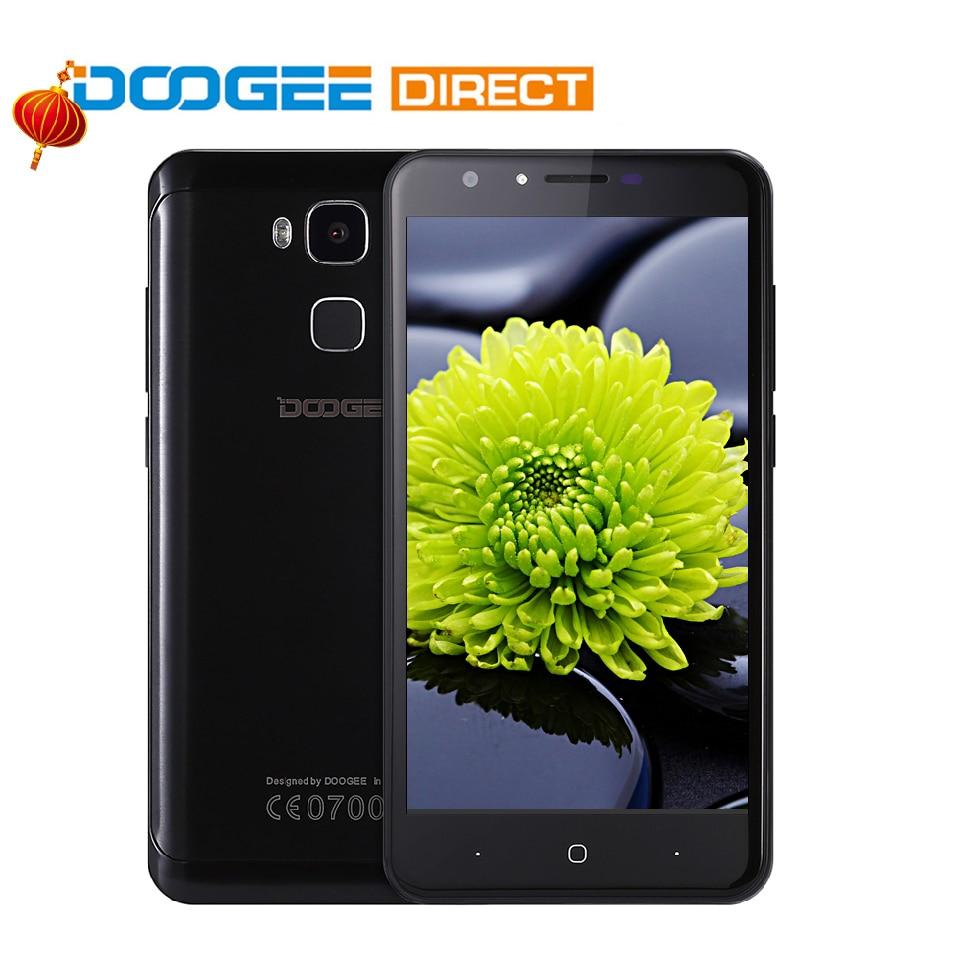 Doogee Y6 Fingerprint Smartphone 5 5 Inch HD 2GB 16GB Android 6 0 Dual SIM MTK6750