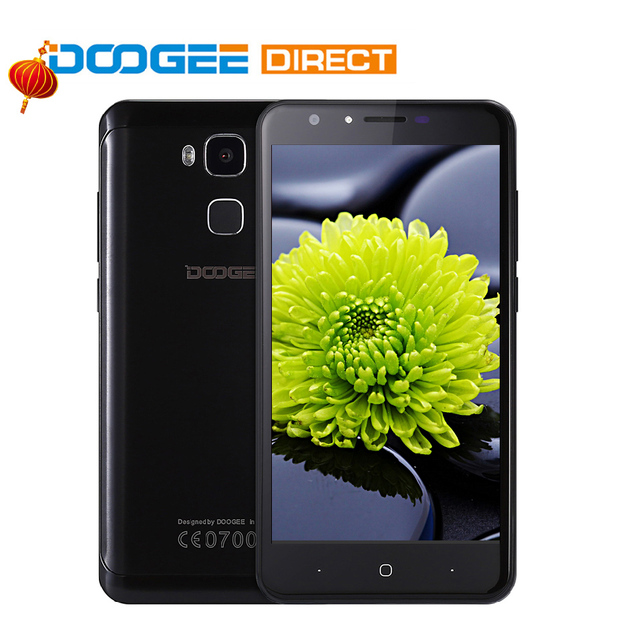 Doogee y6 отпечатков пальцев смартфон 5.5 дюймов hd 2 ГБ + 16 ГБ android 6.0 Dual SIM MTK6750 Qcta Core 13.0MP 3200 мАч WCDMA LTE GSM GPS