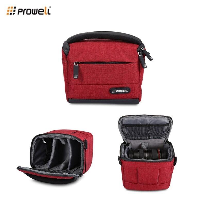 PROWELL DC22009 Camera Bag Multi-Function Waterproof DSLR Camera Flax Photography Handbag Shoulder Bag For DSLR Camera