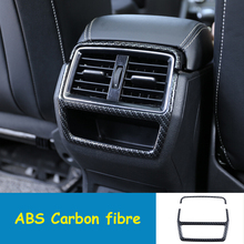 Fit For Skoda Kodiaq 2017 2018 ABS Carbon fibre Car Back Rear Air Condition outlet Vent frame Cover Trim car styling accessories decorative carbon mesh sticker for car air condition vent black grey 2 pcs