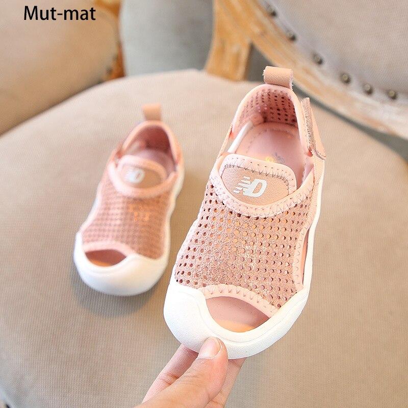 Children's Genuine  Leather Toe Sandals 2019 Summer New Boys Beach Shoes Girls Barefoot Sandals