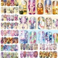 12 sheets mixed designs dreamcatcher full Water Transfer Stickers Nail Art decals Sticker DIY Nails Accessories manicure tools