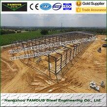 Горячая оцинкованная стальная структура склад/Мастерская построена рядом с морем и океаном
