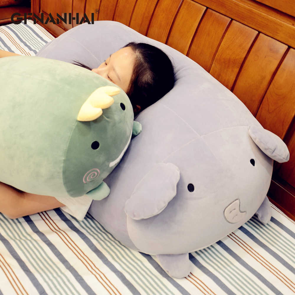1 ед. 50/60 см, симпатичные, с аппликацией в виде животного плюшевые подушки в форме игрушек мягкие подушечные куклы Единорог с изображением медведя слона хомячок игрушки Детские подарки на день рождения