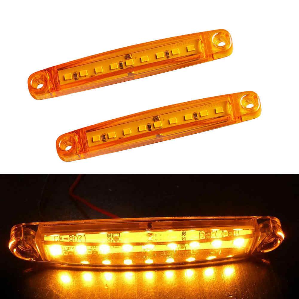 24V 9 10pcs Yellow Car Externo Luzes LED SMD LED Auto Car Truck Bus Vagões Lado Marcador Indicador luz reboque Traseiro Lado Da Lâmpada