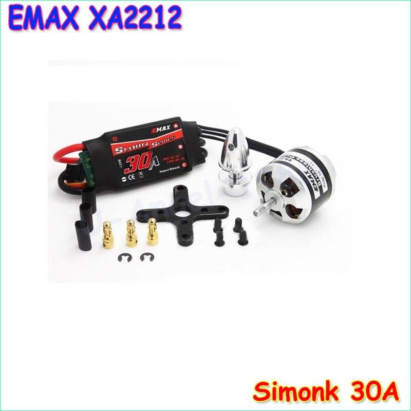 все цены на Original EMAX XA2212 820KV 980KV 1400KV Motor With EMAX Simonk 30A ESC Set For RC Model for  F450 F550 RC Quadcopter онлайн