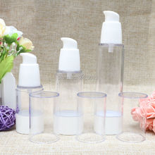 15ml 30ml 50ml Korean Style Beak Head  White Airless Bottles Lotion Small Empty Refillable Bottle Cosmetic Container 100pcs/lot