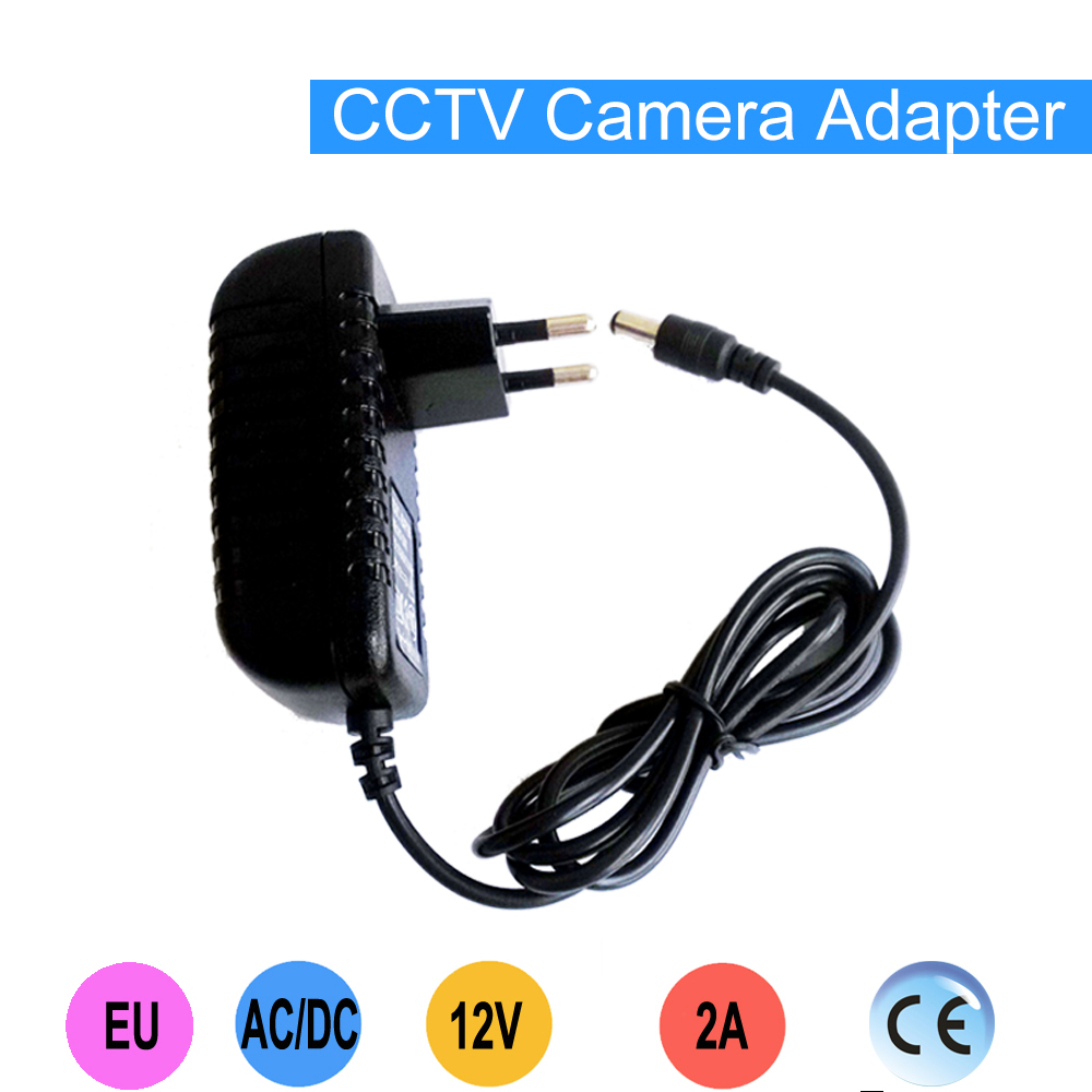 High quality 12V2A Power supply adapter European plug for CCTV camera IP camera and DVR,AC100-240V to DC12V2A Converter dc 12v 5a ac adapter cctv power supply adapter box 1 to 8 port for the cctv surveillance camera system abs plastic