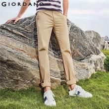 Giordano Men กางเกงสีกากี Pantalon Homme Slim กางเกงผู้ชายกางเกงคุณภาพผู้ชายธุรกิจผ้าฝ้ายโมเดิร์น Pantalones Hombre