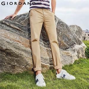 Image 1 - Giordano Men Pants Men Khaki Pantalon Homme Slim Pants Men Quality Trousers Men Cotton Business Casual Modern Pantalones Hombre