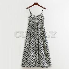 CUERLY Women Party Dress Long Summer Boho Sleeveless Floral Print Beach Tunic Maxi Sundress De Festa