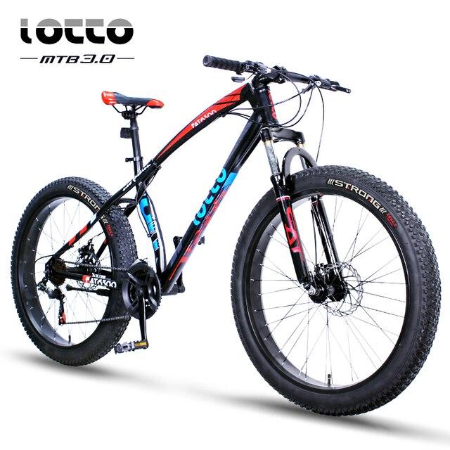 3d15dfd00d7 New 27 Speed Fat Bike 26 Inch Fat Tire Mountain Bike Double Disc Brakes ATV  Snow Bike All-Terrain Vehicle for Men