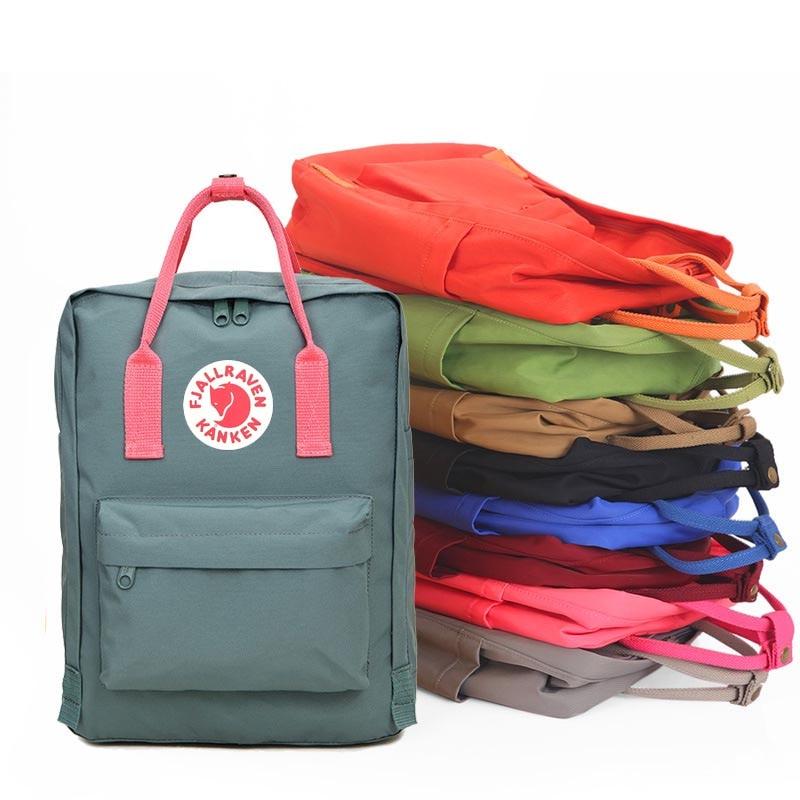 2018 Unisex Oxford Backpacks Waterproof Middle School Student Schoolbag taken Kanken Leisure Double Shoulder Bag