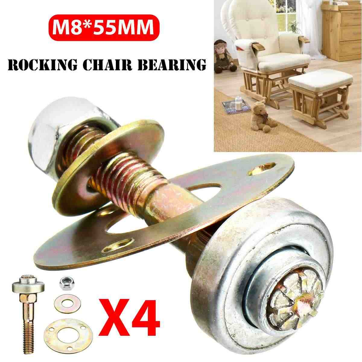 5Set Rocking Chair Bearing Connecting Fittings Furniture Screws Nut Bolt Kit Furniture Accessories