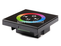 LED RGB Touch Panel Controller Dimmer Wall Switch Ring 12V 24V 12A For LED Strip