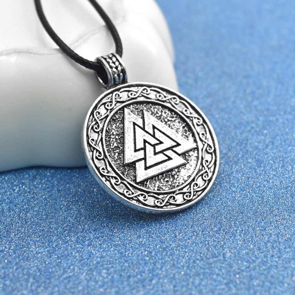 Daisies 1pc Slavic Norway Valknut Pagan Amulet Pendant Necklace Scandinavian Statement Jewelry Symbol of Norse Viking Warrior
