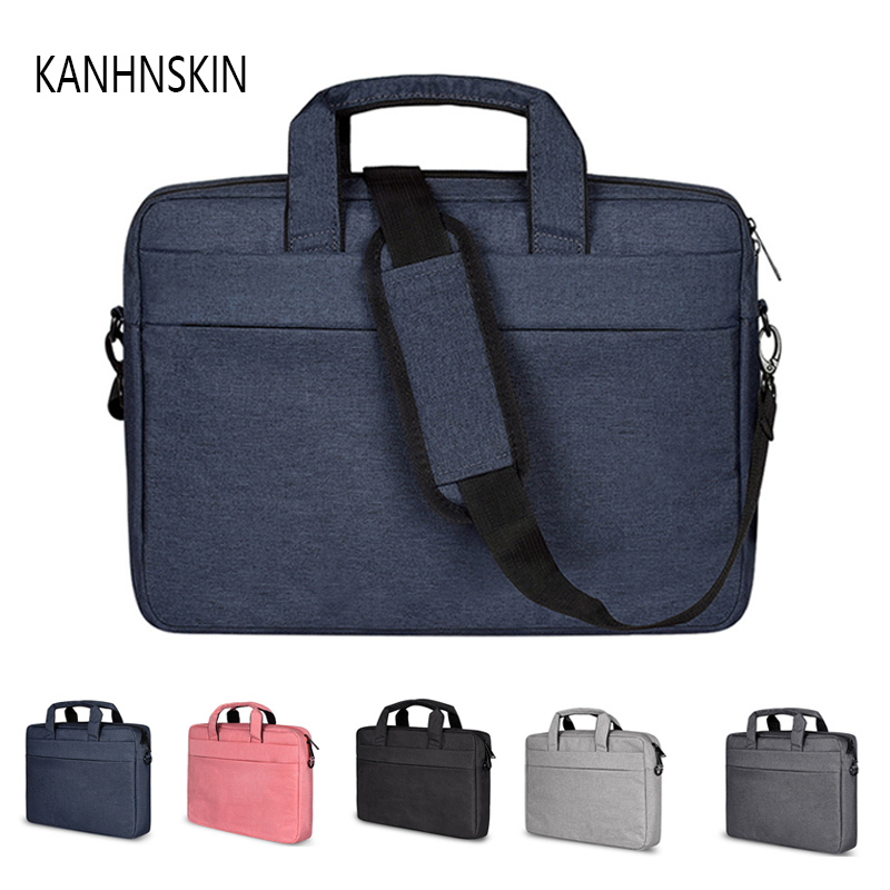 <font><b>15</b></font>.6 14.4 13.3 inch <font><b>laptop</b></font> messenger bag with shoulder handbag computer bags Waterproof Messenger <font><b>Women</b></font> men Notebook bag image