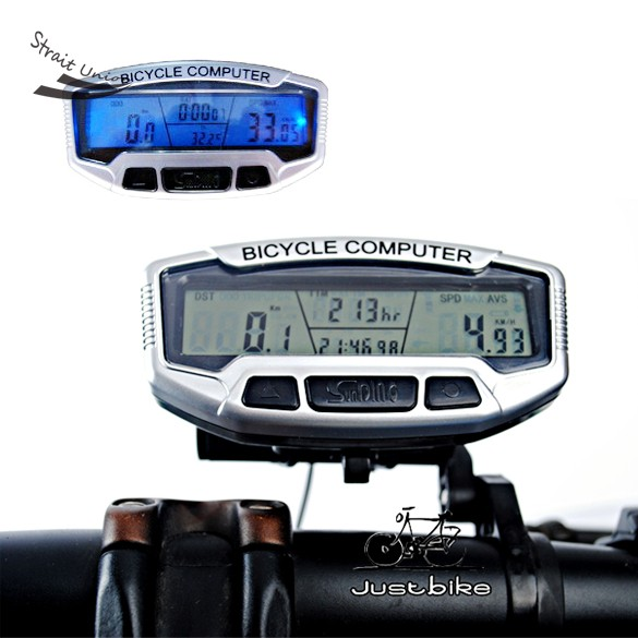 2014 New Arrival Type Digital LCD Backlight Bike Bicycle Computer Odometer Speedometer SD558A Clock Stopwatch B16