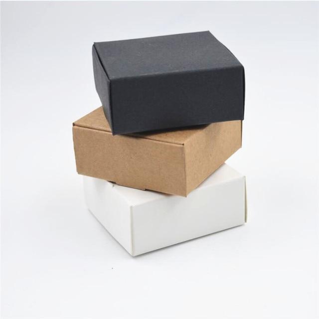 2000 шт./лот, Размер 9*8,6*1,6 см, коробки из белой бумаги для упаковки, черная крафт коробка, бумажные карты, коричневые коробки из крафт бумаги, подарочная коробка