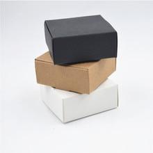 2000 Tamanho pçs/lote 9*8.6*1.6cm Branco caixas de papel para embalagens, preto kraft caixa de papel cartão, papel de caixa de presente caixas de papel Marrom kraft