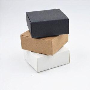 Image 1 - 2000 Tamanho pçs/lote 9*8.6*1.6cm Branco caixas de papel para embalagens, preto kraft caixa de papel cartão, papel de caixa de presente caixas de papel Marrom kraft